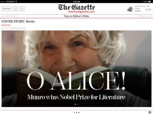 Breaking news in print