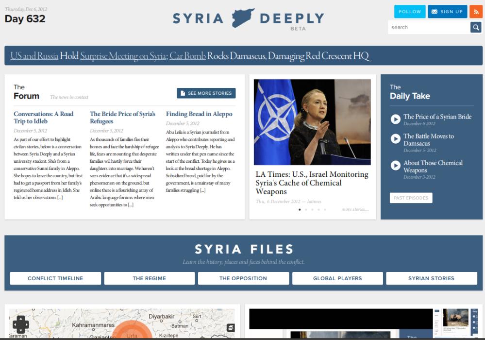 Syria Deeply screenshot